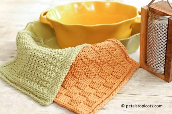 Textured Knit Dishcloth