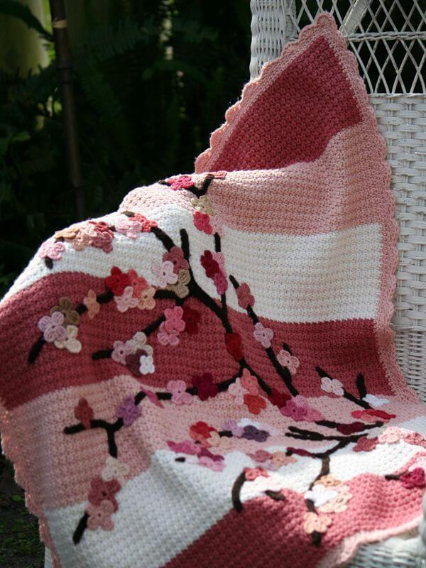 Willow's Cherry Blossom Blanket