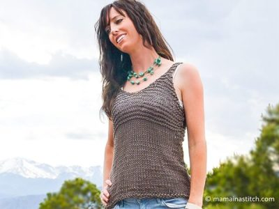 Simple Cocoa Knit Sleeveless Top