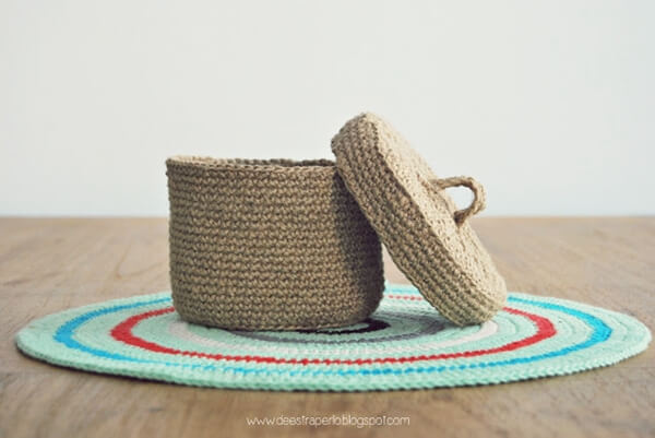 How to Crochet a box with Jute