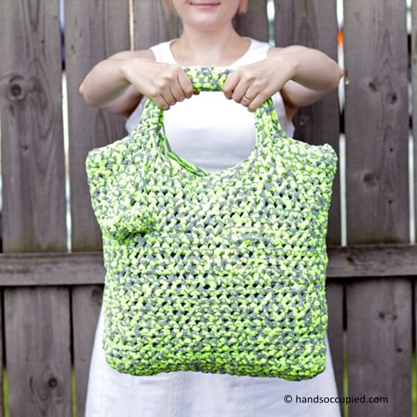 Crochet T-shirt Yarn Tote