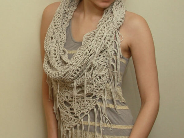 Triangle shawl and cowl