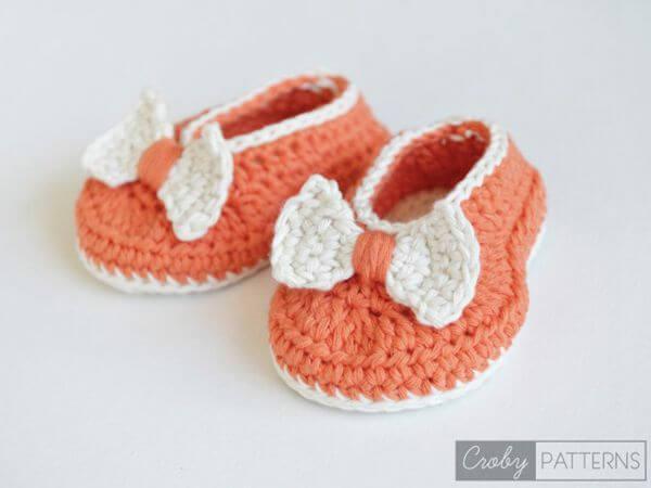 Baby Booties/Flats - Orange Pumpkin