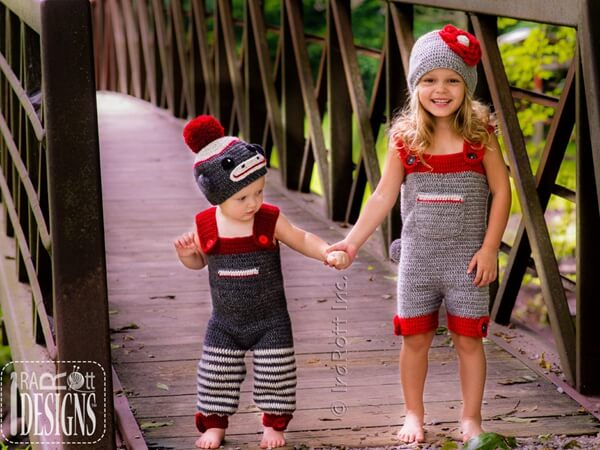 Monkey Hat Romper Jumpsuit Outfit