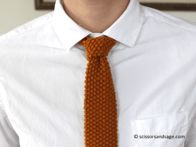 How To Knit A Tie