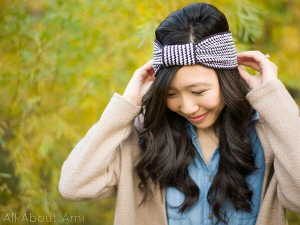 Black & White Knotted Headband