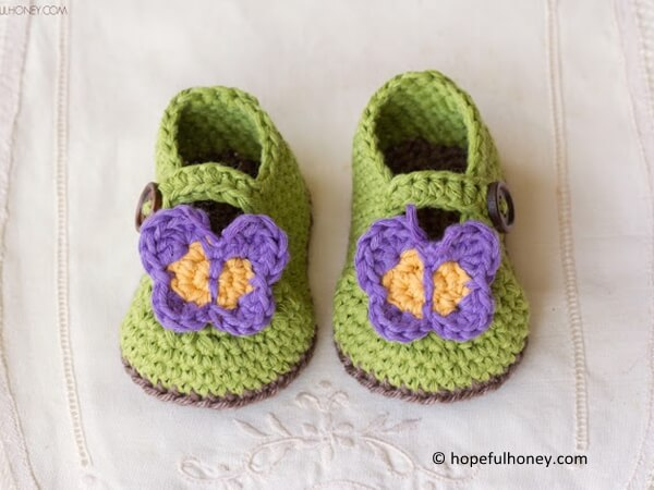 Butterfly Garden Baby Booties