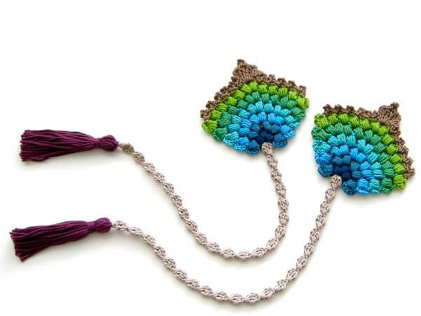 Peacock Feather Fan Bookmark