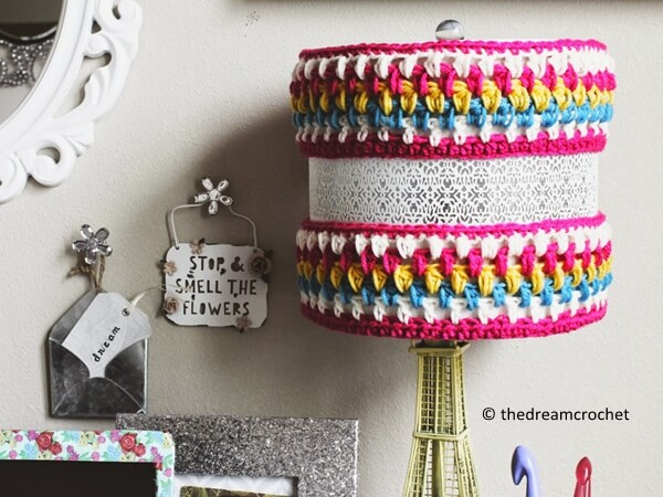 Crocheted Lamp Cozy