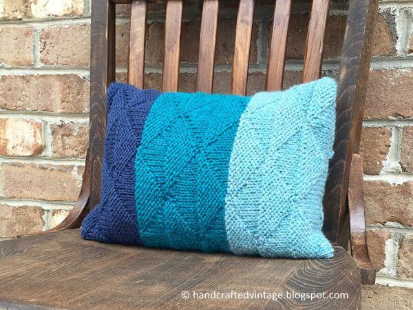 Triangle Knit Pillow