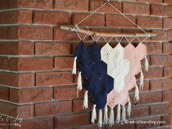 Boho Hexagon Wall Hanging