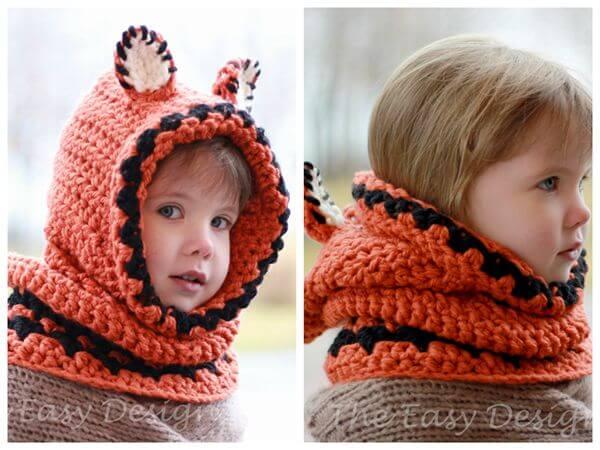 Frankie Fox Hooded Cowl Hood Hat