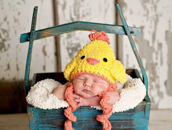 Easter chicken crochet hat-free pattern