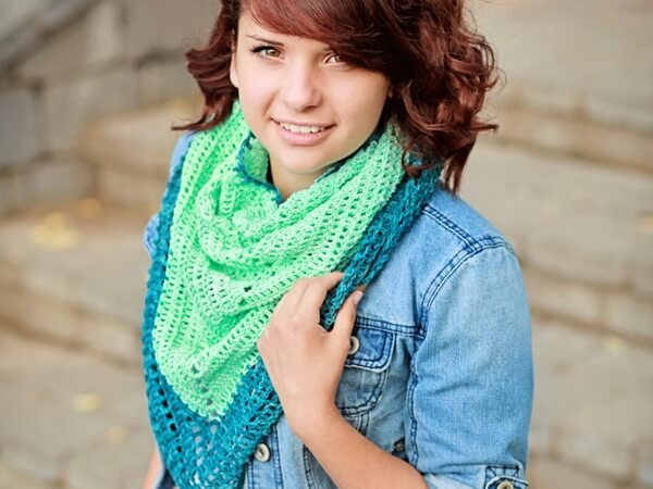 Sunkissed Triangle Scarf