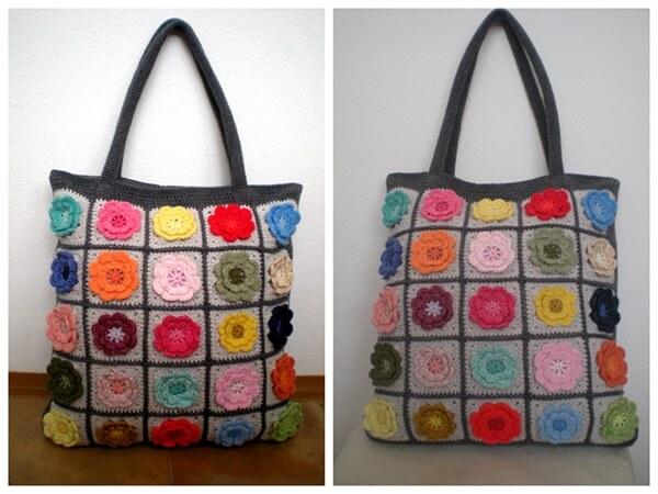 Pretty flower bag pattern