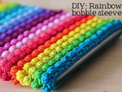 Rainbow bobble tablet sleeve