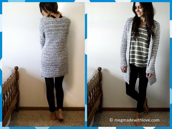 A Long & Chunky Cardigan Sweater