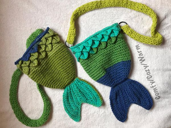 crochet Mermaid Tail Bag free pattern