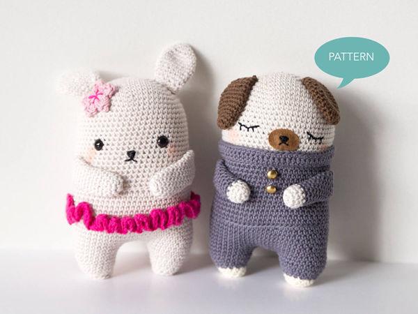 Crochet Bunny & Pug Pattern