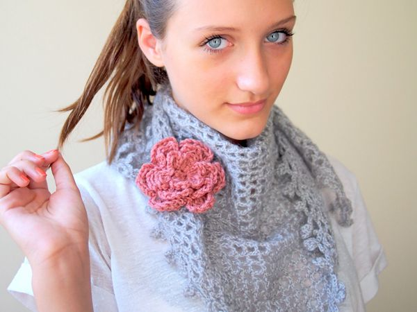 Spring Lace Triangle Shawl