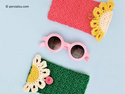 THE HAPPY DAISY CROCHET GLASSES POUCH