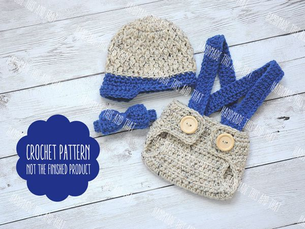 Newsboy hat and diaper cover set