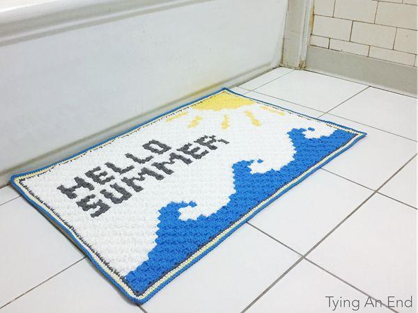 Hello Summer Bath Mat