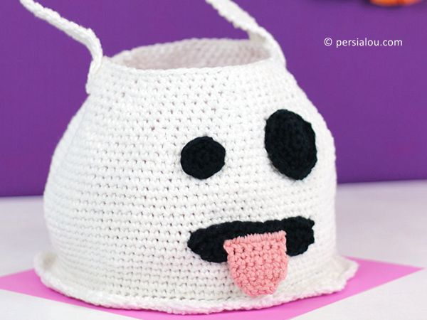 CUTE CROCHET EMOJI GHOST BAG