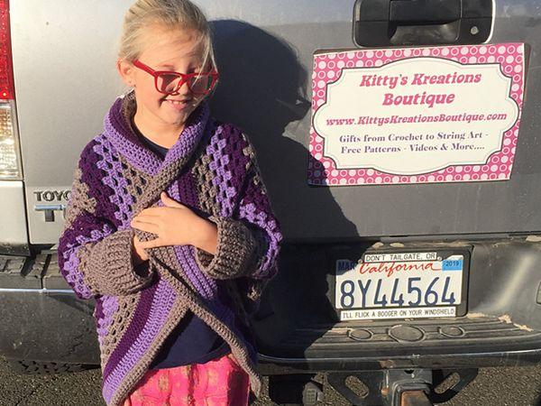 Kids Granny Square Sweater