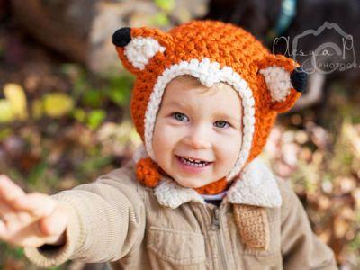 Fox Chin Stripe Bonnet