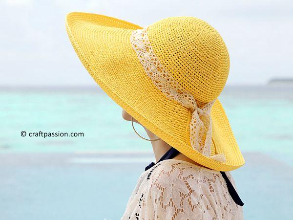 Raffia Beach Hat