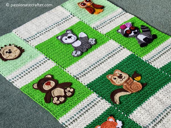 crochet Forest friend blanket free pattern
