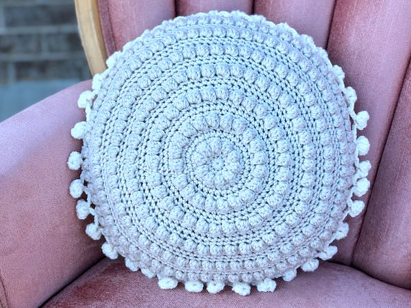 crochet Crafty Boho Pillow free pattern