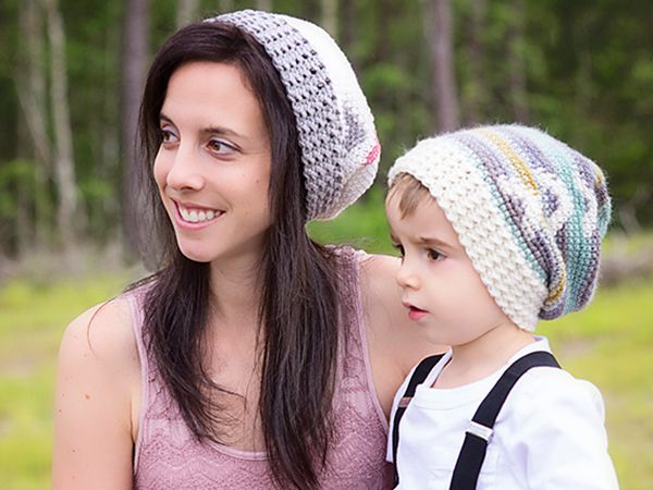 Arrow Slouchy Hat Crochet free pattern