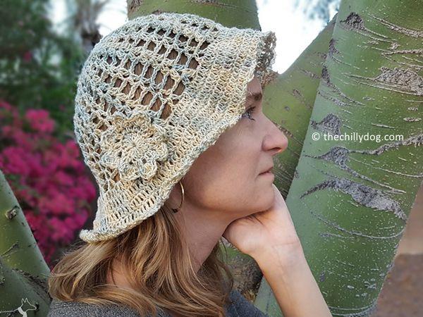 crochet Hazy Daze Summer Hat free pattern