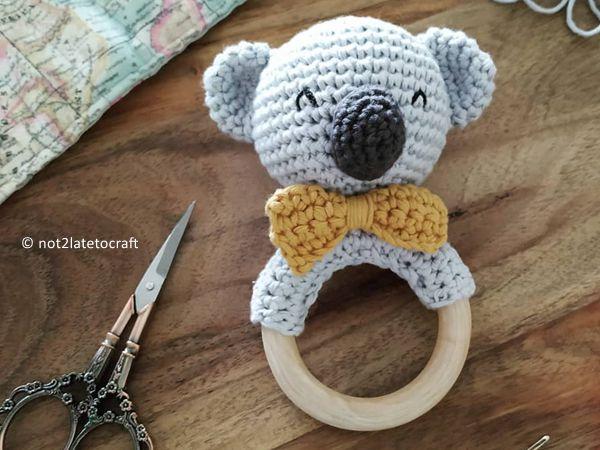 crochet Koala Teether free pattern