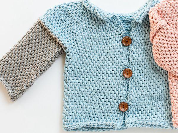 crochet Tunisian Crochet Baby Sweater easy pattern