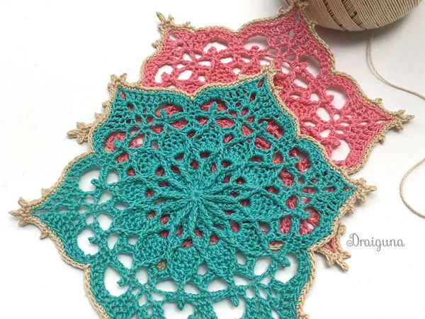 crochet Wispweave Hexagon Doily free pattern