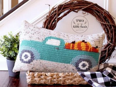 Fall Crochet Pillow