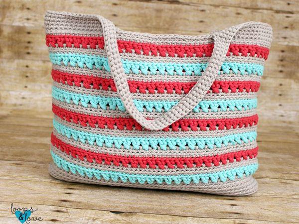 crochet Beach Please Summer Tote free pattern