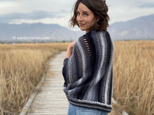 crochet The Skyscape Shrug free pattern