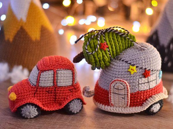 crochet Crochet Car & Christmas Tree easy pattern