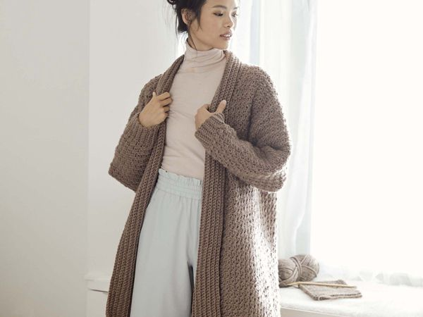 crochet Cozy Textured Cardigan free pattern