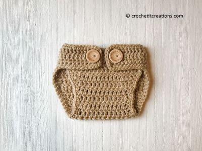 crochet Newborn Diaper Cover free pattern