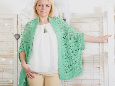 Trapeze Crochet Cardigan EASY PATTERN