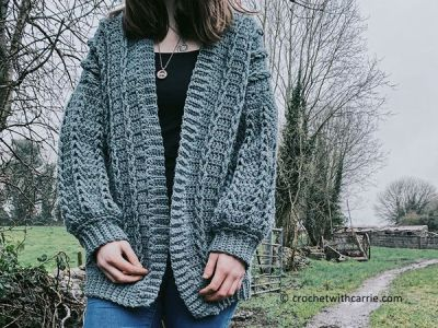 crochet Crochet Cable Cardigan free pattern