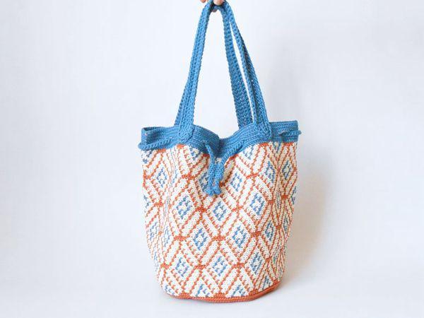 crochet Spanish Tile Bag easy pattern