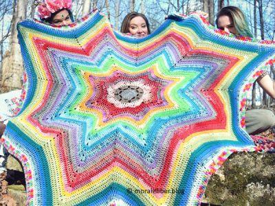 crochet Sundogs Throw free pattern