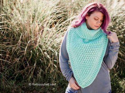 crochet Balsam Alpine Cowl free pattern
