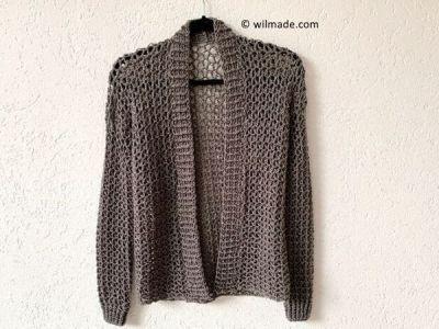 crochet TOUCH OF MERINO CARDIGAN free pattern